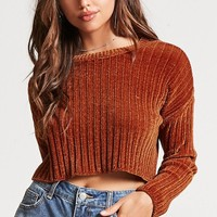 Ribbed Sweater-Knit Crop Top