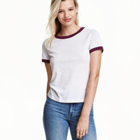 Short T-shirt - from H&M