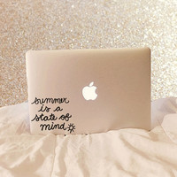 Summer Is A State Of Mind - Vinyl Decal - Macbook Decal - Laptop Decal - Macbook Sticker - Laptop Sticker - Summer Decal - Summer