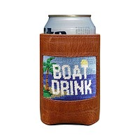 Boat Drink Needlepoint Can Cooler by Smathers & Branson