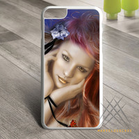 Girls eyes face floral flower rose _ butterfly pretty Custom case for iPhone, iPod and iPad