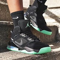 Bunchsun Nike Air Jordan Mars 270 Fashion Men Casual Basketball Sneakers Sport Shoes Black&Green