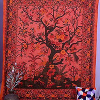Tree Of Life Tapestry Wall Hanging Throw Indian Queen Bedspread Decor Wall Art