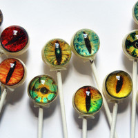 Spooky eyes Mixed flavor set Halloween lollipops - 6 pc. - made to order