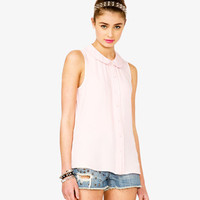 Pleated Peter Pan Collar Shirt | FOREVER 21 - 2026553101
