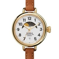 Shinola 'The Birdy' Moon Phase Leather Strap Watch, 34mm   Nordstrom