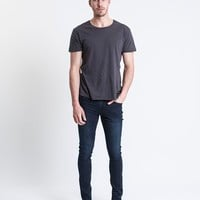 Men's Denim - Deuce Skinny Jean Scratched Blue by Silent Theory - Edge Clothing