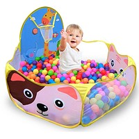 Colorful Children's Tent Ocean Ball Pool Toys Game Play Tent Outdoor Kids House Play Hut Pool Play Tent Toys