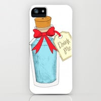 Alice In Wonderland: Drink Me iPhone & iPod Case by Sarah and Bree