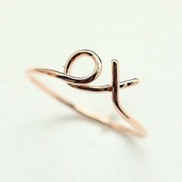 xo Hug and Kiss Ring in PINK GOLD