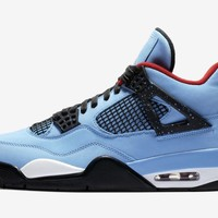 KU-YOU Nike Air Jordan Retro 4 NRG Cactus Jack Travis Scott Blue 2018 (NO Codes)
