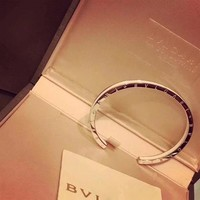 Bvlgari logo Snakes high carbon AAAA masonry bracelet hand chain in 18K gold plating S925 Silver Hollowed out