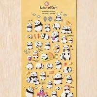 Panda Puffy Stickers Set