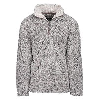 The Original Frosty Tipped Pile 1/2 Zip Pullover in Charcoal by True Grit