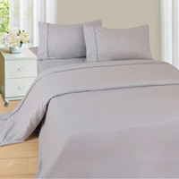 Lavish Home Series 1200 3 Piece Twin Sheet Set - Silver