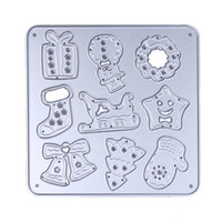 Christmas Cutting Dies Stencil For DIY Scrapbook Album Paper Card Carbon Steel Stencil 3 Styles Festival Gifts