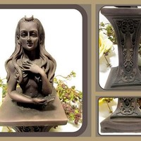 Crescent Crowned Moon Goddess Statue