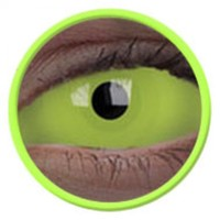 ColourVue Green UV Glow Scleral Full Eye Coloured Contacts