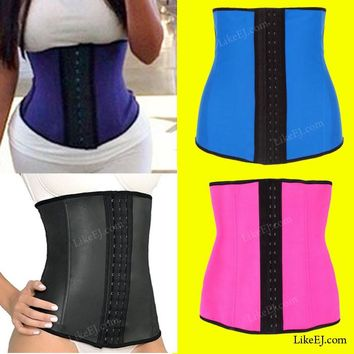 US #1 Super Underbust Waist Trainer Cincher Corset Girdle Workout Belt Shaper