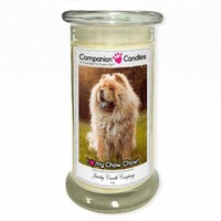 I Love My Chow Chow! - Pet Photo Companion Candles - Pet Lover Gifts