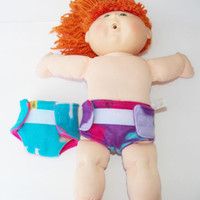 """baby doll, HANDMADE CLOTHES, fits the 16"""" Cabbage Patch Kids Girl Doll, diapers"""