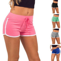 Fitness Sports Training Shorts Stretch Running Short Pants Mini Sweatpants