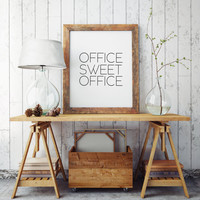 Wall Art,Black And White,Gold Foil,Office Sweet Office,Office Decor,Printable Art,Printable,Office Desk,Office Sign,Office Art,Inspirational