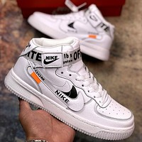 Nike Air Force 1 x Off-white joint sports and leisure high-top sneakers shoes