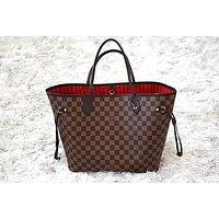 Trulym: LV two piece shopping leather hot Handbag Shoulder and bag purse wallet a set two-piece
