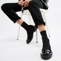 RAID Sense Black Chunky Sock Boots at asos.com