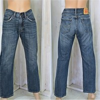 Vintage Levis 505 jeans 30 X 29 / size 7 / 8 /  LEVI'S  high waisted jeans / straight leg / Mens or  Womens / dark stonewash