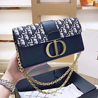 DIOR Hot Sale Women Shopping Bag Leather Metal Chain Shoulder Bag Crossbody Satchel