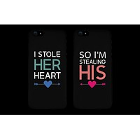 I Store Her Heart, So I'm Stealing His Cute Couple Matching Phone Cases