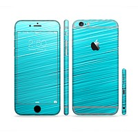 The Light Blue Slanted Streaks Sectioned Skin Series for the Apple iPhone 6 Plus