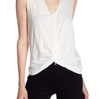 Abound | Knotted Split Neck Tank Top | Nordstrom Rack