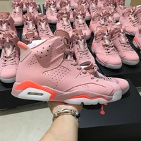 Air Jordan Retro 6 pink Women Sneaker 384664-031