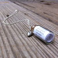 Custom Song In A Bottle Necklace - Choose Your Own Lyrics