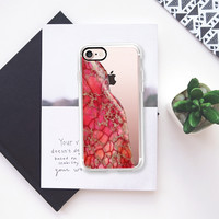 Casetify iPhone 7 Classic Grip Case - Power Pink Stone by Lisa Argyropoulos