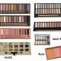 free shipping Makeup Nake NK 1 2 3 4 5 nk basic nk blush flush Brand Cosmetics Eye shadow palette eyeshadow makeup palettes