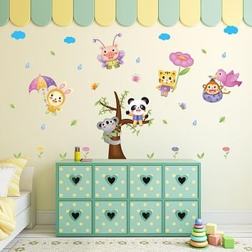 Cute Animal Panda Cat Pig Wall Sticker Home Decor