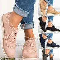Fashion hot women's casual single shoes large size 34-43 size cross-border supply of women's shoes