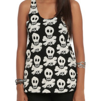 All Time Low Skully Print Girls Tank Top