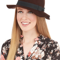 ModCloth Film Noir Every Shtick In the Book Hat in Hickory