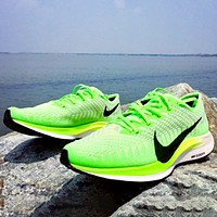 Nike Air Zoom Pegasus 36 New fashion hook print running leisure mesh shoes Green