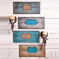 Western Definition Signs - Wall Decor - Home