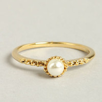 Your Pearliest Convenience Gold Pearl Ring