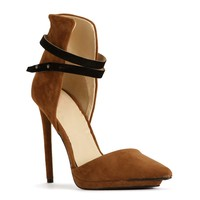 Sale-chestnut Ankle Cuff Heels