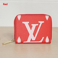 LV Louis Vuitton New fashion letter print wallet clutch bag Red