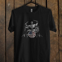 Abraham Lincoln Drum T Shirt Mens T Shirt and Womens T Shirt **