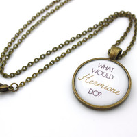 What Would Hermione Do? WWHD Hermione Granger, Harry Potter Necklace